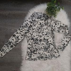 Lululemon floral print turtleneck top